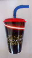 Star wars plastic drinking tumbler with straw (Code 4398)